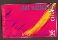 Vatican City 2002 Booklet, Journeys of John Paul II in 2001, Sc #1234a MNH