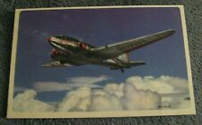 American Airlines Flagship Postcard - Vintage 1940's AAL Propeller Airplane Card