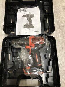BLACK + & DECKER BCD700S 18V Cordless Combi Hammer Drill Driver Bare Unit & Case