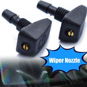 Universal Car Front Windshield Wiper Sprayer Washer Nozzle Sprinkler 2pcs Black