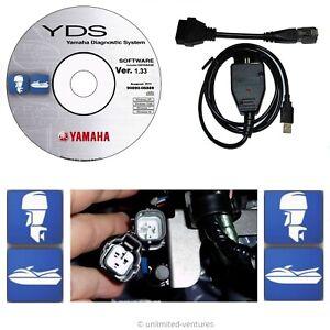 Diagnostic cable adapter kit for Yamaha YDS Marine Outboard WaveRunner Jet Boat