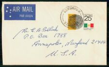 Mayfairstamps Australia Geranium Olympic Games Cover wwh_93575