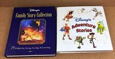 Disney Lot of 2 Large ADVENTURE STORIES & FAMILY STORY COLLECTION Books