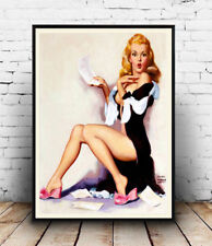 Earl Horan : old magazine pin up artwork ,  Reproduction poster, Wall art.