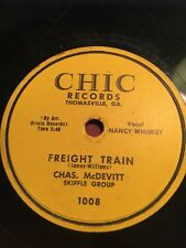 78rpm Chas. McDevitt Skiffle Group; The Cotton Song & Freight Train  Chic-1008