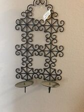 "Wall hanging candle holder Sconce, New 17"" By 10"""