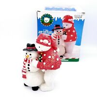 """Holiday Workshop 7"""" Hand Painted Cast Resin Snolar Bear Friends Collectible"""