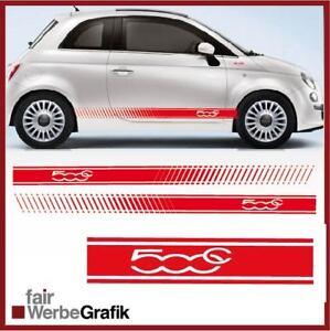 Aufkleber /  Sticker / Seitenbeschriftung / Dekor / Fiat 500 C Streifen / #209