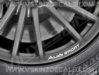 8x Audi Sport Logo Premium Cast Wheel Rim Decals Stickers TT RS S-line Quattro
