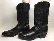 VTG MENS LUCCHESE COWBOY BLACK BOOTS SIZE 11 D