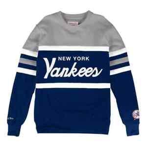 New York Yankee Mitchell & Ness MLB Men's Head Coach Crew Sweatshirt