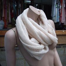 Wonderful Atmosphere Fabulous Long Fine Knitted Ivory Scarf Shawl Knit Cream