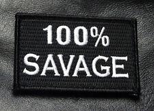 SAVAGE 100% TACTICAL MORALE MILSPEC HOOK PATCH