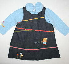 CATIMINI Euro Boutique Miss Cati Jumper Dres Girl Size 18 Months  Made in France