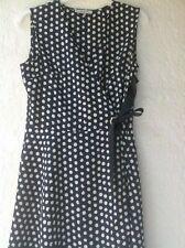 """Très belle robe marine à pois """"MORGAN"""" style porte-feuille Taille petit 40 com9"""