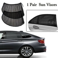 2 Car Side Rear Window Shade Mesh Cover Shield UV Glare Sun Visor Baby Sunshade