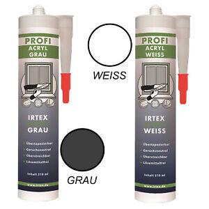 Bauacryl Acryl 310ml Maleracryl Premium weiß/grau Dichtstoff Dichtmasse