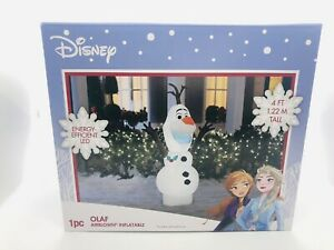 Gemmy Disney Frozen 2 Olaf Christmas Holiday Light Airblown Inflatable 4 ft