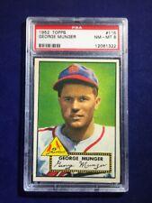 1952 Topps George Munger #115 PSA 8 St Louis Cardinals