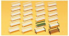 Preiser 17200 Park benches. 24 pieces HO 1:87 amazing detail