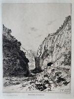Henri Paillard gravure eau forte Etching Orientaliste Alger Algérie