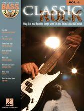 Classic Rock Sheet Music Bass Play-Along Book and Audio NEW 000699678