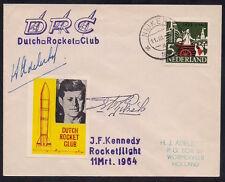 1964 NETHERLANDS DRC rocket mail cover KENNEDY EZ 97C1