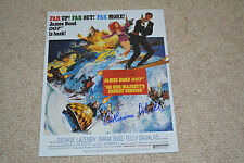 CATHERINE SCHELL signed  Autogramm 20x25 cm In Person JAMES BOND 007 Nancy