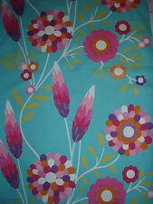 "HARLEQUIN CURTAIN FABRIC DESIGN ""Funky Flowers"" 2.8 METRE Turquoise/Pink/Orange"