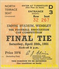 reproduction 1951 NEWCASTLE UTD BLACKPOOL fa cup final ticket [RMT]