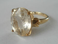 9K SCAPOLITE GOLD RING VERY RARE GEM QUALITY STONE LARGE 5.850CT.