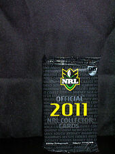NRL OFFICIAL 2011 COLLECTOR TRADING CARDS - PACK 6 - NEW AND SEALED