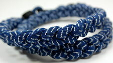 "Pack Of 2 20"" Navy White Baseball Stitch Titanium Necklace Tornado Free Shipping"