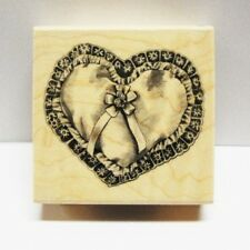 Inkadinkado rubber stamps Valentine's Wedding Pillow Heart Bride Pretty!