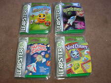 New Leap Frog Leapster Lot Word Chasers Cosmic Math Letterpillar Number Raiders
