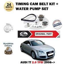 FOR AUDI TT 2.0 TFSI  16V 2006-2010 GATES TIMING CAM BELT KIT + WATER PUMP SET