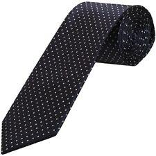 Navy Blue and White Polka Dot Classic Men's Tie Neck Tie Wedding Tie Prom Tie