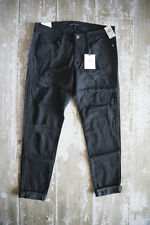 Flying Monkey Vervet Distressed Black Denim Jeans size 27 Stretchy NWT