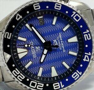 SEIKO DIVER 7002-7000 AUTOMATIC MEN'S WATCH PADI SAMURAI DEEP WAVE BLUE 352921