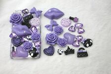 New 3D Bling Purple lips DIY Cell Phone iPhone4 Case - Deco Den Kit !!