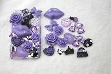 New 3D Bling Purple lips DIY Cell Phone iPhone4 Case - Deco Den Kit !!