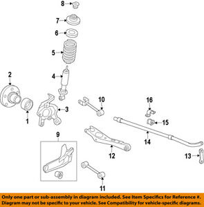 FORD OEM Rear Suspension-Coil Spring 6L2Z5560AA