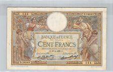 FRANCE 100 FRANCS LOM 19.4.1929 D.24843 N° 621053544 PICK 78b
