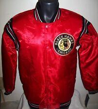 CHICAGO BLACKHAWKS STARTER Satin Jacket Original STARTER Traditional SMALL  RED