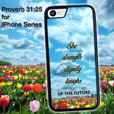Proverbs 31:25 31 25  for iPhone 5 5s 4 4s 5c 6 6 7 Plus iPod touch Pone Case