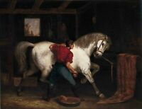 """oil painting handpainted on canvas """"Governor Sprague's White Horse """"@NO15981"""