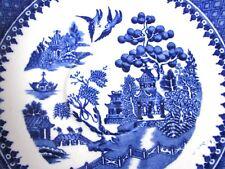Royal Alma Willow Blue Saucer  Rare Salopian Blue Royal Alma Tea Plate