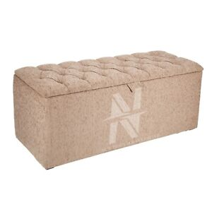 LUXURY CHESTERFIELD OTTOMAN STORAGE BOX, TOYS, FOOTSTOOL, BLANKET & BEDDING BOX.