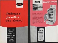 G.E.C. General Electric Company Cooker 1960 LL.61