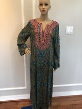 world market dress Women One Size Floral Long Sleeve Embroidered And Side Slits